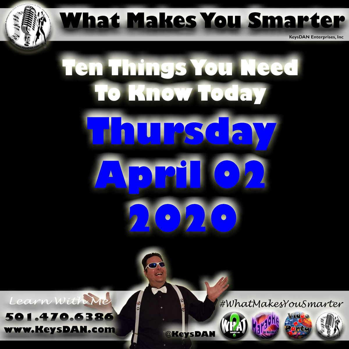 2020-04-02 Ten Things You Need To Know Today What Makes You Smarter #PODCAST #WhatMakesYouSmarter @KeysDAN https://anchor.fm/whatmakesyousmarter/episodes/2020-04-02-Ten-Things-You-Need-To-Know-Today-What-Makes-You-Smarter-PODCAST-WhatMakesYouSmarter-KeysDAN-eca2jt… #podcastsdotcom #podcasts #podcast #podcasting #podcaster #PodernFamily #podcastlisten #podcastinglife #podcast#podcastlife pic.twitter.com/wKAe54r68Q