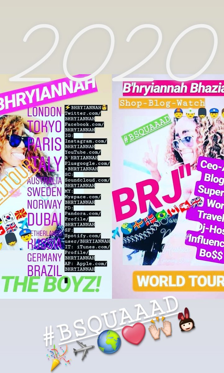 S/O #WATCH NEW EPISODES  EVERY WEEK 👱✈🌍🌈✈💯💋💫💃  DOWNLOAD TXT MSG PODCAST & MORE 🇬🇧🇮🇹🇺🇸🇷🇺🇰🇷🇩🇪  @latelateshow @FallonTonight  @TheEllenShow  @KevinHart4real @grahnort   STAY TUNED FOR  #TOUR THIS SUMMER  💙💜❤💚💛  #BRJX #Family #friends #fans #tour #music #art #BSQUAAAD