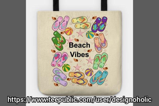 #beachvibes #totebag is available in my @teepublic store.  #teepublic #tote #bag #flipflops #shopping #shoppingonline #art #summer #Summer2020 #beach