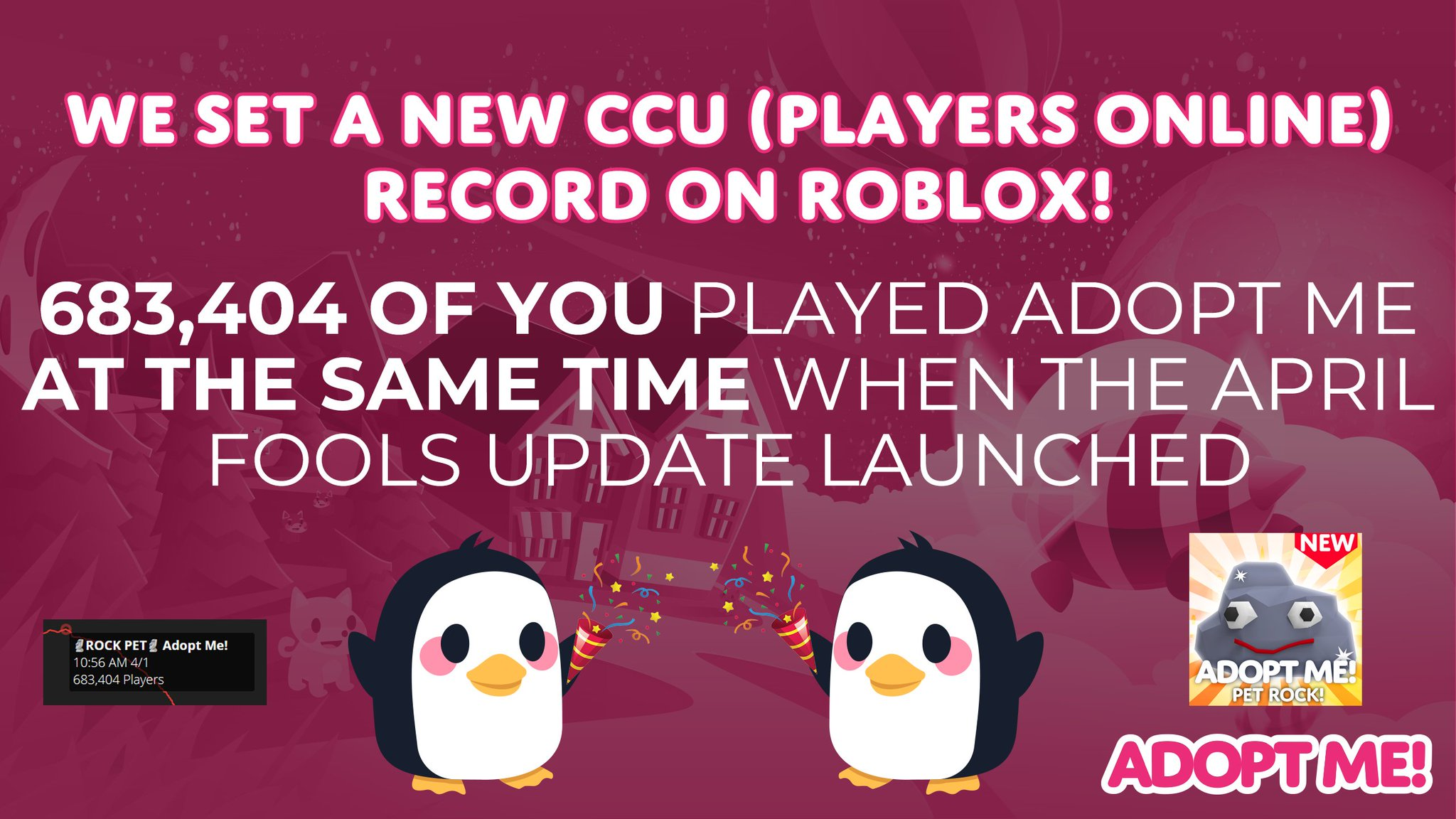 Adopt Me On Twitter We Set A New Ccu Players Online Record On