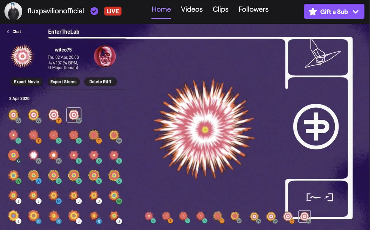 Streaming the @endlesssfm  app on @Twitch now. Let's see what you're all creating today. http://twitch.tv/fluxpavilionofficial…
