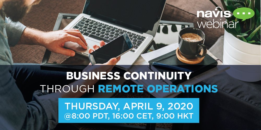 "How can we maintain business continuity as the COVID-19 pandemic disrupts our #terminal #operations & global #supplychain? Join us for the #webinar, ""Business Continuity through Remote Ops,"" April 9 & learn how N4 #cloud #apps enable remote ops. Register: https://bit.ly/2UCgD8B pic.twitter.com/wQ33nOT94m"