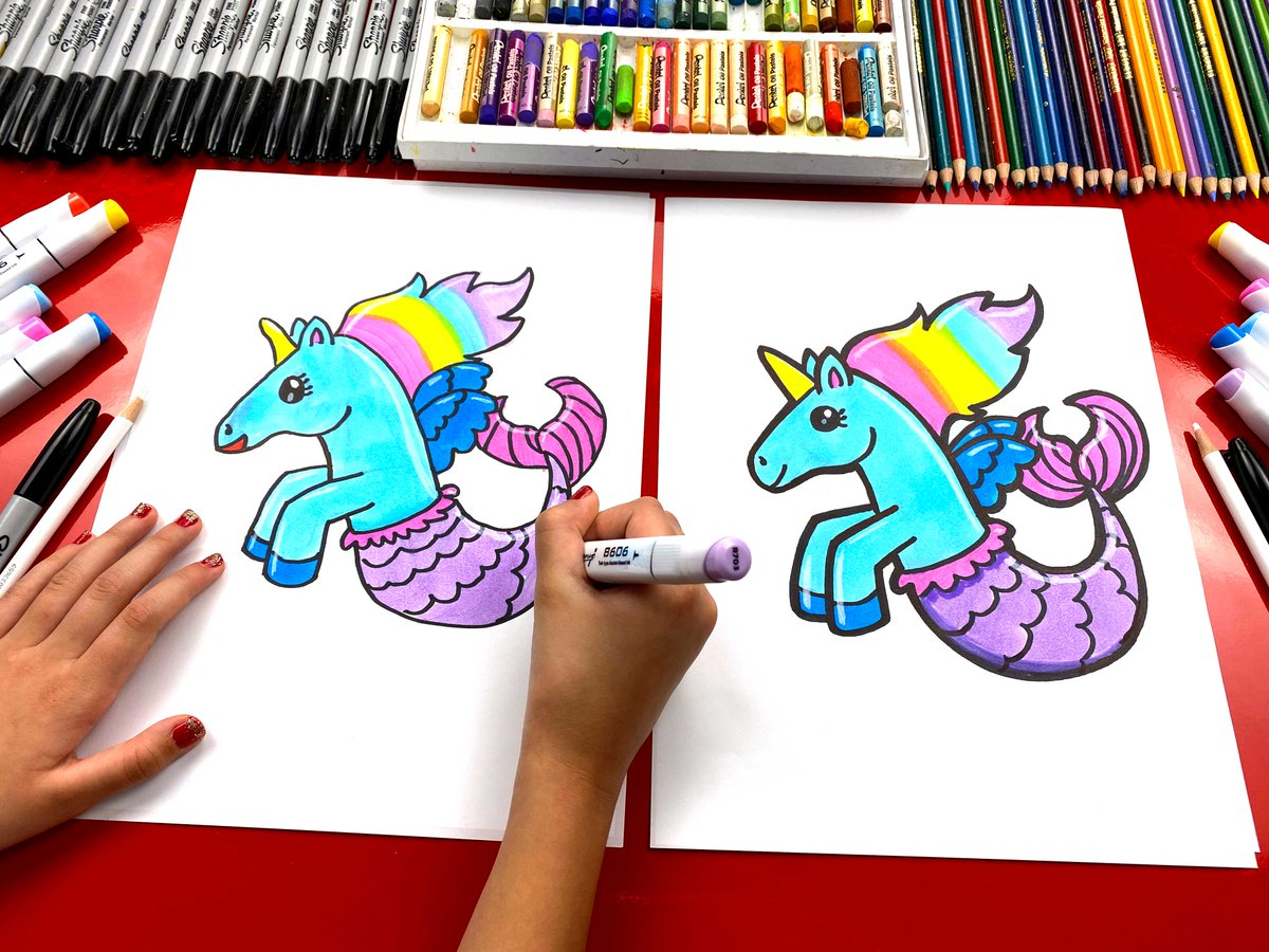 Art For Kids Hub On Twitter Learn How To Draw A Really Cute Mermicorn You Can Follow Along On Youtube Https T Co Nczvzv7zyy Or Our Website Https T Co Bqkgrxzu6q Stayhome And Draw Withme Https T Co Yoem1zl0z3