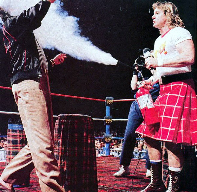 "80's Wrestling on Twitter: """"Rowdy"" Roddy Piper puts out Morton ..."