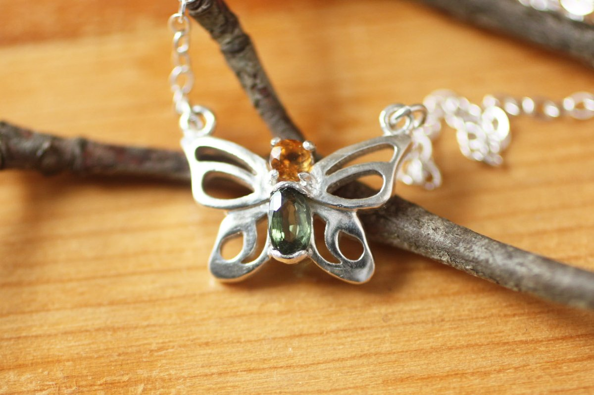 Tiny Butterfly Gemstone Silver Necklace  Sterling Silver Birthstone Butterfly Necklace Gift for Woman https://etsy.me/2E3Y9mt  #handmadegifts #silver_jewelry #handmadeinUSA #SilverNecklace pic.twitter.com/chHVbtevnv