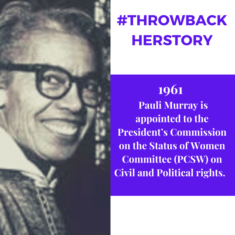 In 1961, Pauli Murray worked with A. Phillip Randolph, Bayard Rustin and Martin L. King, Jr. on civil rights while she worked on the PCSW on Civil and Political rights.  #africanamerican #BlackPeople #blackwomen #BlackExcellence #blackfeminism #blacklivesmatter #BlackGirlMagic pic.twitter.com/e9viMWyYZI