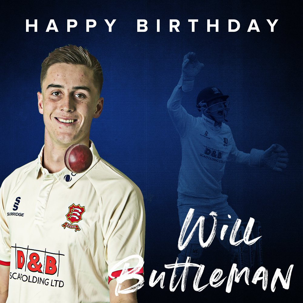 🎂 Happy Birthday to Essex wicket-keeper @Will_Buttleman, who turns 2⃣0⃣ today 🙌 Have a great day Will 🥳