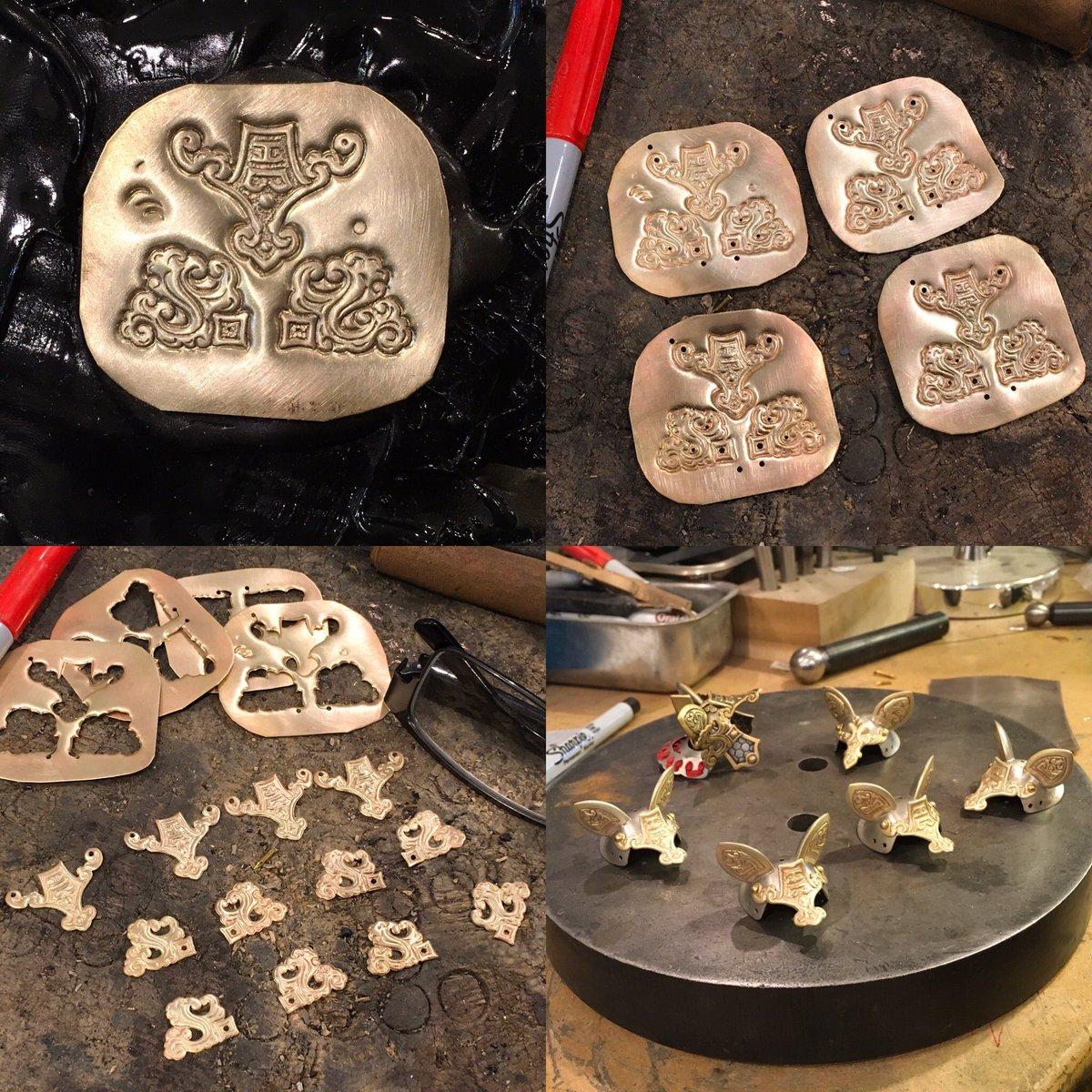 For steps of making parts for mice helmets.  #sculpture #jewellery @CalgaryArtsDev @AlbertaUArts @EskerFoundation @Glenbow @BluerockGallery @Fuse33Calgary @catsofinstagram @ABCraftCouncil @HotArtYYC @ContemporaryYYC @beneadie @GoldbergArts