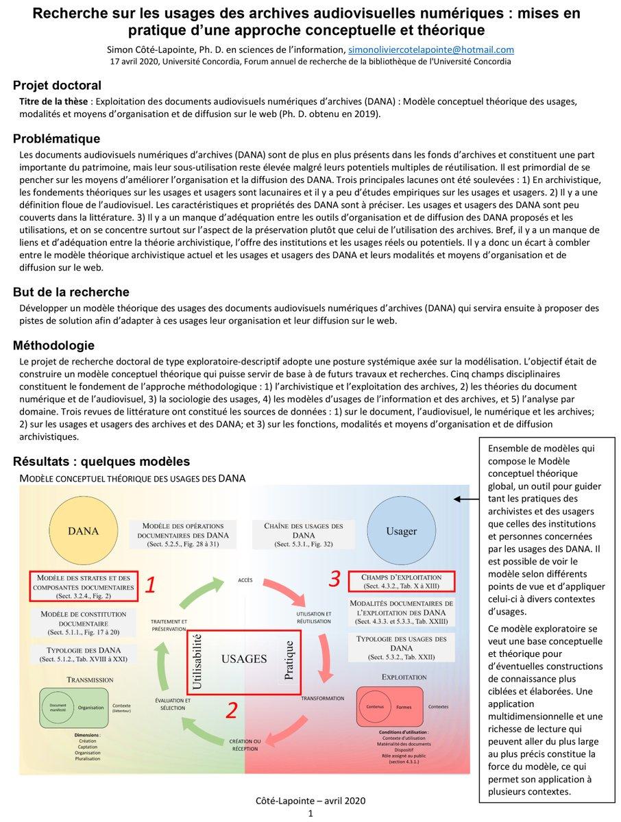 test Twitter Media - Étant donné l'annulation du 15e Forum annuel recherche en bibliothéconomie et sc. de l'info. de Concordia, je vous partage l'affiche et le tiré à part que j'avais préparé pour l'occasion. https://t.co/iymN6EHaZY https://t.co/gIJ9p1HHCA