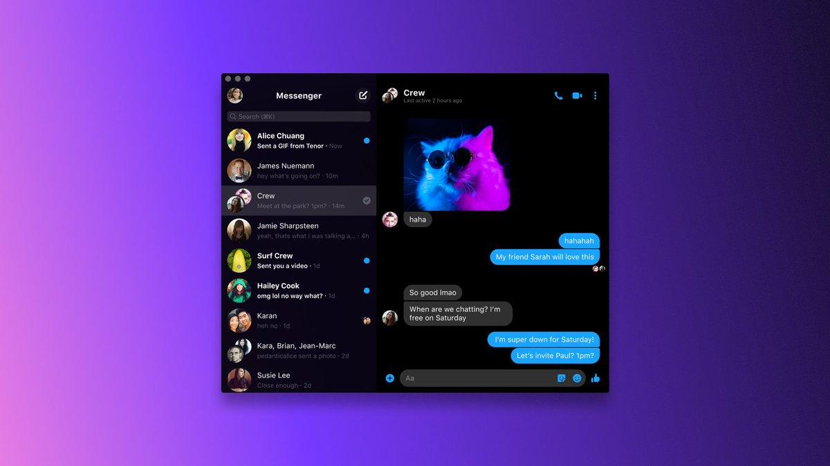Facebook Messenger desktop app launches for Windows and Mac