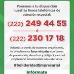 Image for the Tweet beginning: ¡Ante la contingencia, estamos contigo!  Si