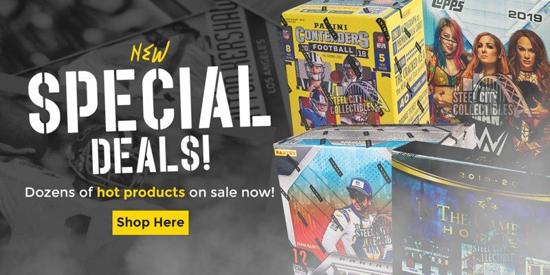 MORE SPECIAL DEALS JUST ADDED: http://bit.ly/2OnRf2C   #SCCTradingCards #TheHobby #Collect #SportsCards #TradingCards #Cards #CaseBreaks #BoxBreaks #SteelCityBreakRoompic.twitter.com/WQI5miUQ6H