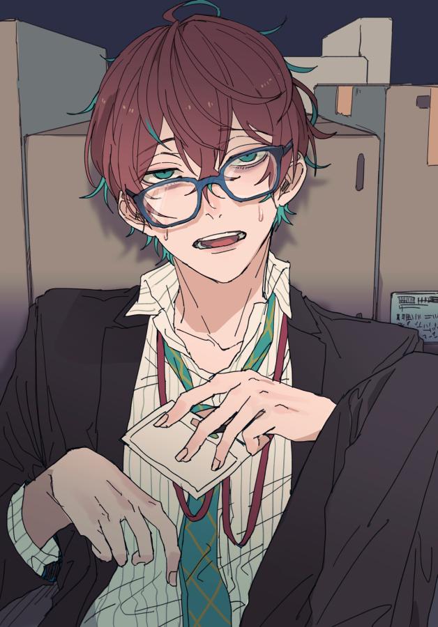 ずれてる眼鏡はエロいねという絵 かいてたやつ