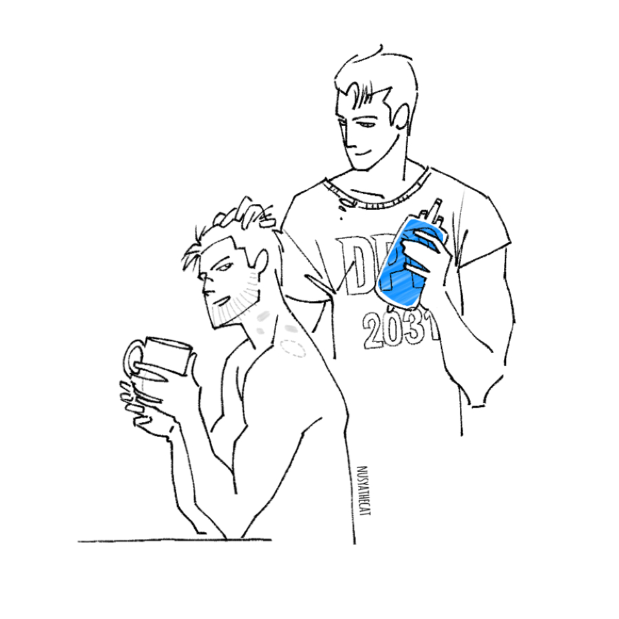 Morning, baby #Reed900 #gavin900 #g9 #GavinReed #RK900 #DetroitBecomeHuman #DBH #dailydoodle pic.twitter.com/dYXSg6YQvV
