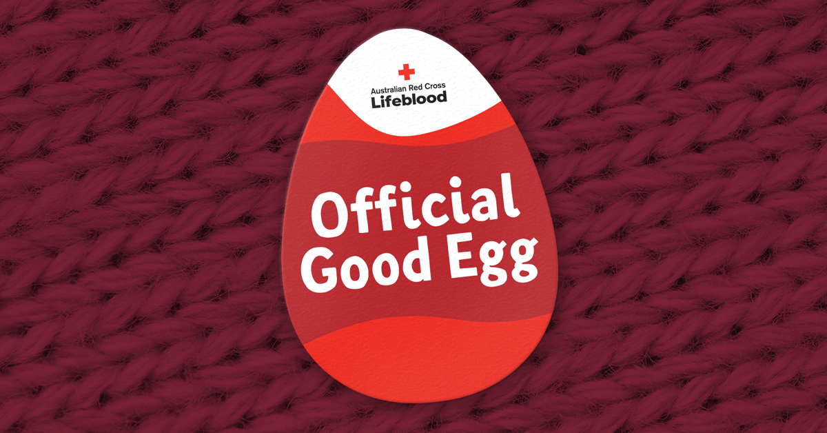 Need a pep in your step? Donate with us this month and use this sticker to show that you're an Official Good Egg. https://don8blood.com/3bG0WTo