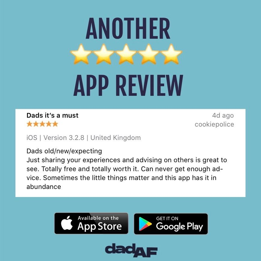 Thank you for another brilliant review  •⠀ Download on App Store and Google Play Store today!⠀⠀⠀⠀ •⠀⠀⠀ • • #dad #dadaf #dadlife #app #review #dads #dadyougotthis #advice #guidance #tips #tricks #dadcommunity #dadnetwork #fivestars #mentalhealth #menshealthpic.twitter.com/XSnUGwAk9w