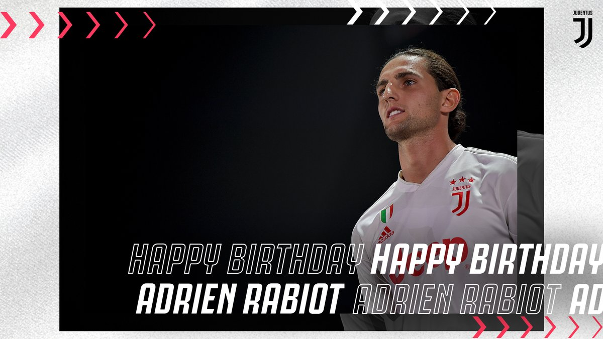 Adrien Rabiot is celebrating his first birthday in ⚫️&⚪️! Happy Birthday! 🎂  ➡️http://juve.it/eIe350z38mP