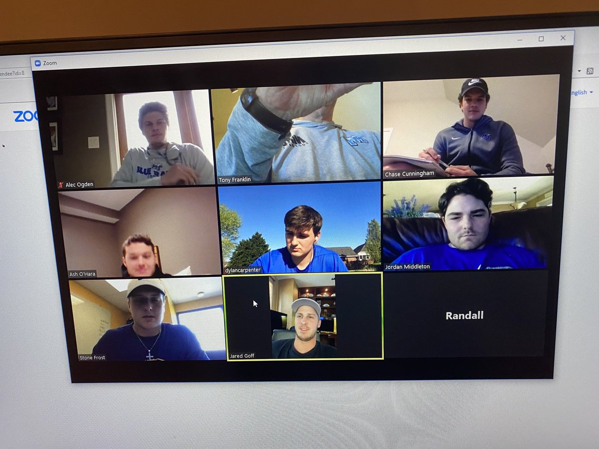 Thx to @JaredGoff16 for joining our Zoom QB meeting today and sharing football and life advice!! Loved coaching him. Great player, better man! https://t.co/9WZGrfvsN4
