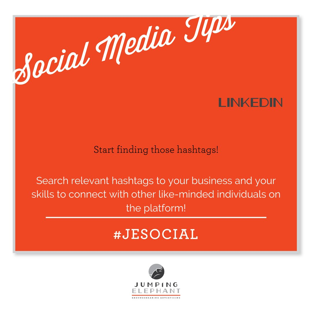 #Hashtags aren't just for #Instagram and #Twitter anymore!  #LinkedIn has hashtags as a way to connect with new people and engage with relevant content.  Start searching and start following!  #BusinessDevelopment #socialmediatip pic.twitter.com/qpBDcGYNGE