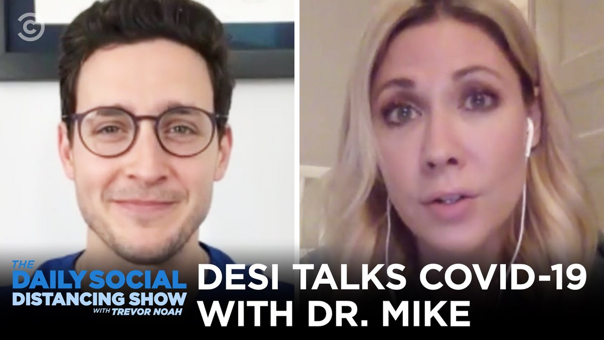 Good advice never looked so good. @desilydic talks staying sane and safe with @realdoctormike