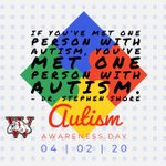 Image for the Tweet beginning: April 2 is Autism Awareness