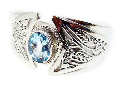exporter 925 Sterling Silver enticing Natural Blue Bracelet gift UK   #gemstones #jewellery