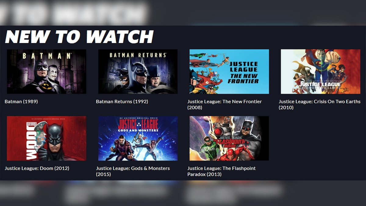 They just added some Batman & Justice League movies to DC Universe! #DCUNIVERSE pic.twitter.com/AvObZZCBtR