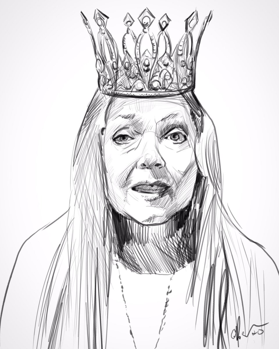 Tonight's Lunatic Warm Up Sketch. The Tiger Queen.  #daily #dailydoodle #art #sketch #portrait #warmupsketch #joeexotic #joeexoticforpresident #tigerking #netflix #carolbaskinpic.twitter.com/E17yeLnP1J