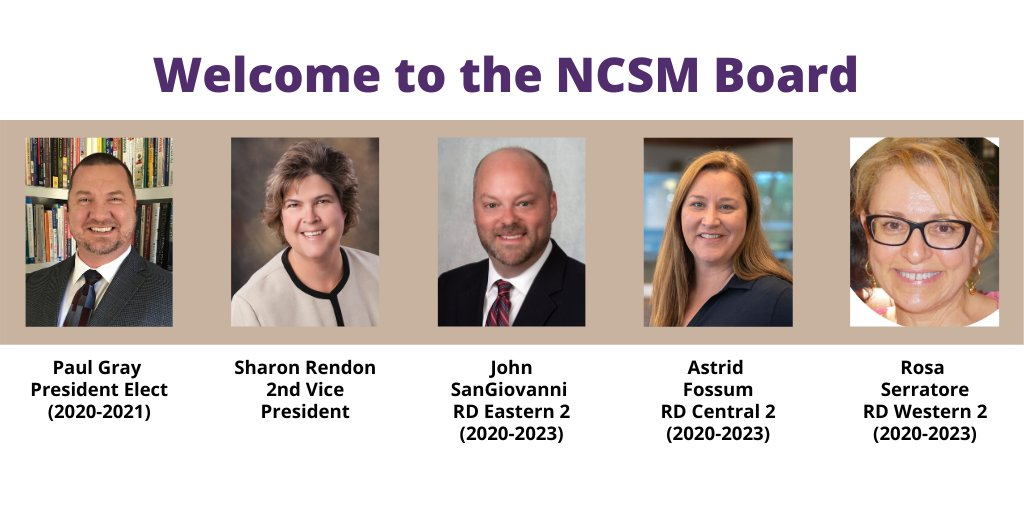 Welcome to the incoming NCSM board members!