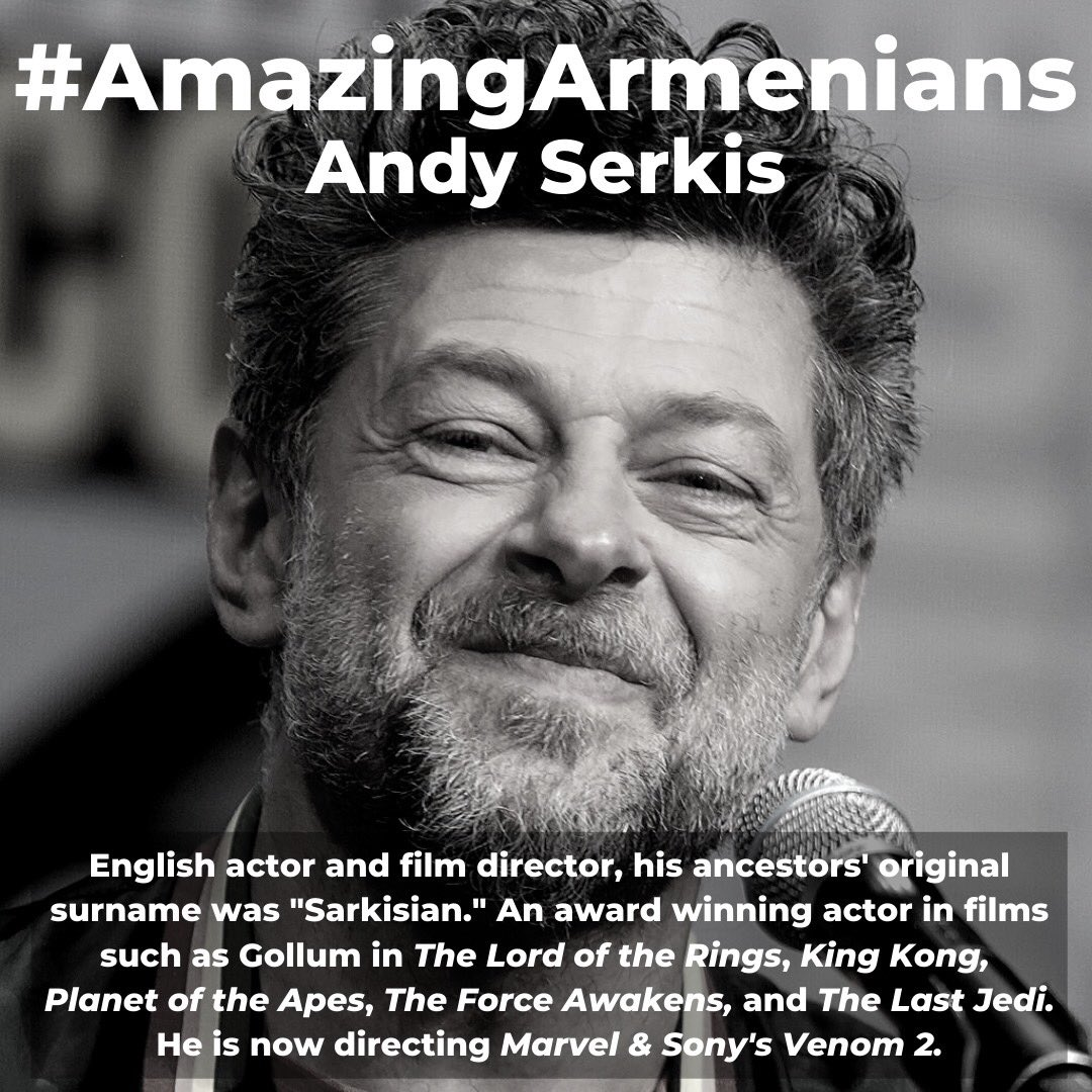 What is your favorite Andy Serkis movie? #AmazingArmenians #Armenian #AndySerkis https://t.co/LepNY9obqA