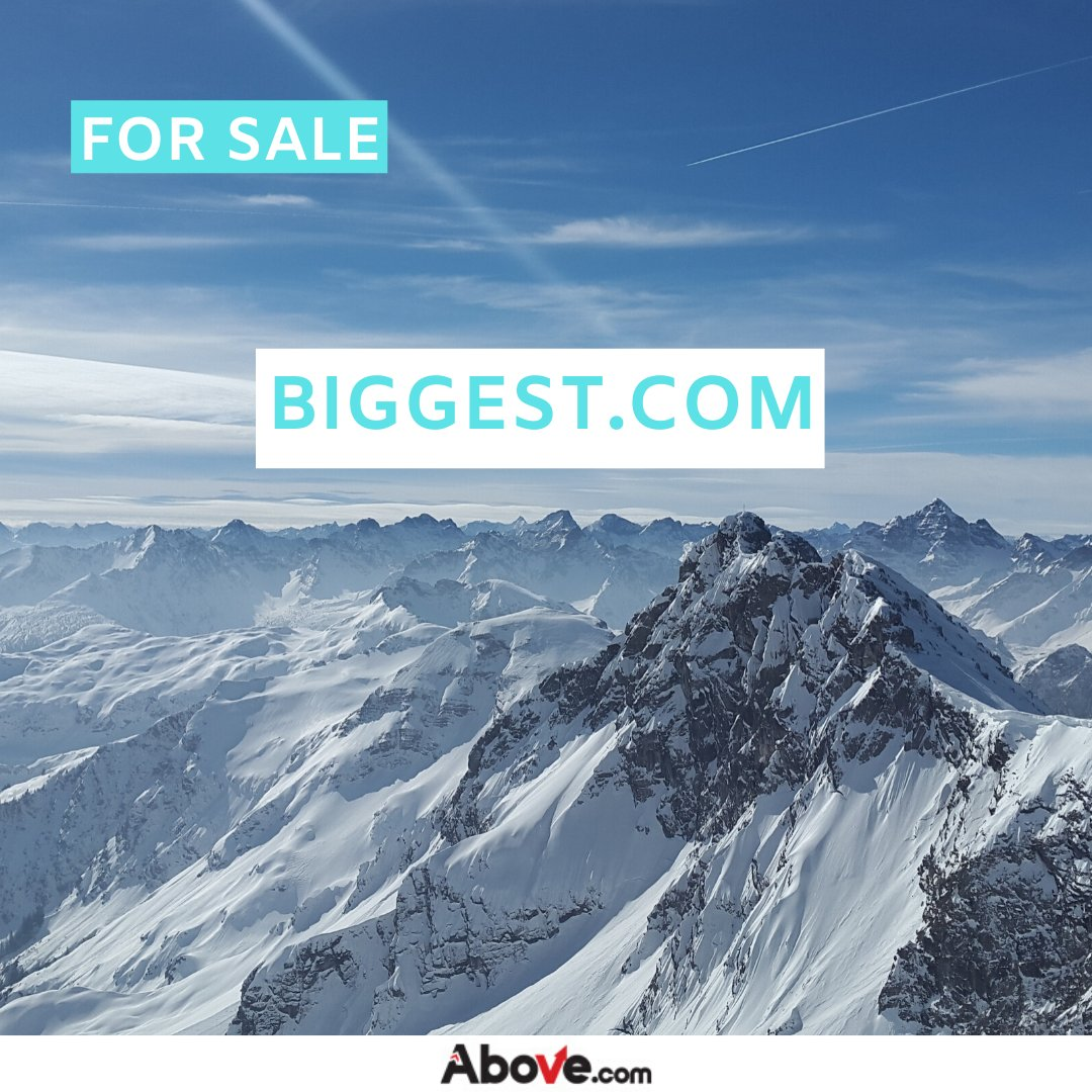 !! FOR SALE !!  http://Biggest.com is now for sale on the http://Above.com Marketplace. Visit http://above.com/marketplace to bid now or contact brokerage@above.com to inquire.  #domainforsale #domainindustry #domaininvestor pic.twitter.com/e8SJt6TkoZ
