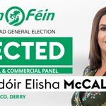 Image for the Tweet beginning: Sinn Féin's @ElishaMcC_SF has been