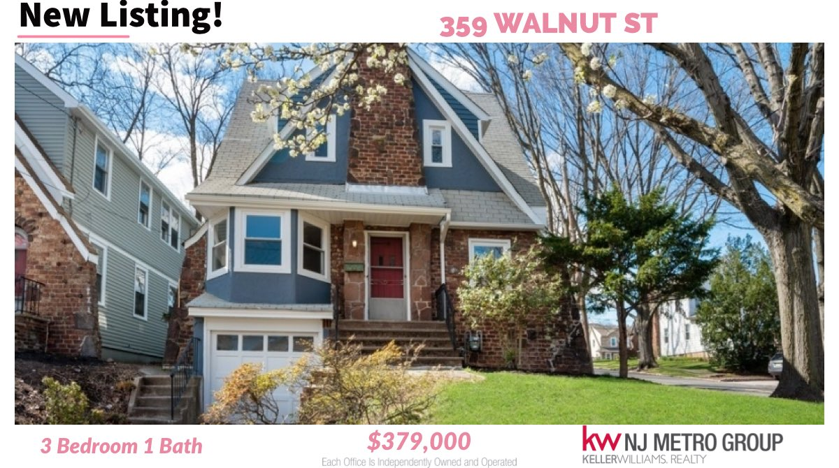Just Listed!! This amazing 3 bedroom, 1 bath Tudor home located on a quiet street in Essex county is the perfect home with easy access to #realestate #realestateagent #tagsta #realestateinvestor #realestateinvesting #tagstgramers #realestateblog #realestatestyle #realestatememespic.twitter.com/PrfvtBnFw5 – at Nutley, NJ
