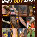 Image for the Tweet beginning: Who's Tatt Hawk? 🧐 Can you