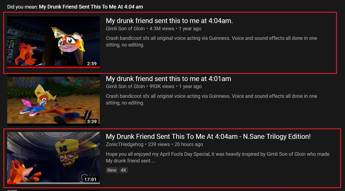 Btw, when I uploaded the no commentary version of my April Fools Day joke, my thumbnail was a nod to the OG video (where it wasn't custom but just the gameplay. I love throwing in neat little things like that. pic.twitter.com/Ppf0Qs969U