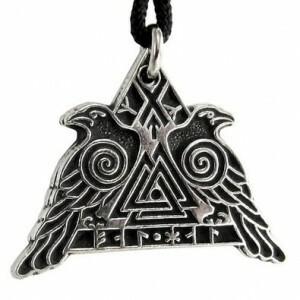 New: Valknut Raven Warrior Odin Huginn and Muninn Pewter Necklace  #jewellery #jewelry