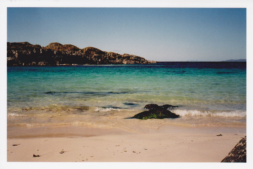 Today's #beach photo! This photo might be a bit wonky but it's from the Isle of Iona in the Hebrides and it was taken with a film  camera on my trip in 2004. #Photography