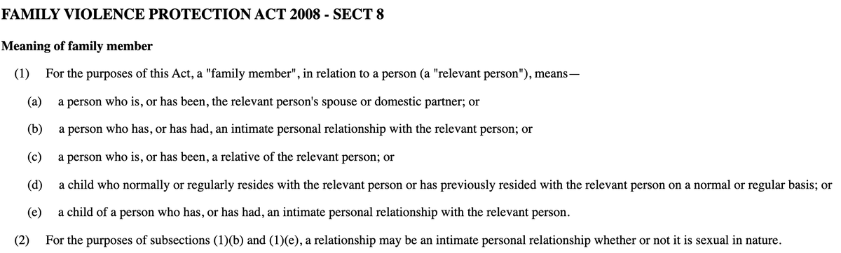 """Jeremy Gans on Twitter: """"There is no definition of an 'intimate personal  relationship'.… """""""