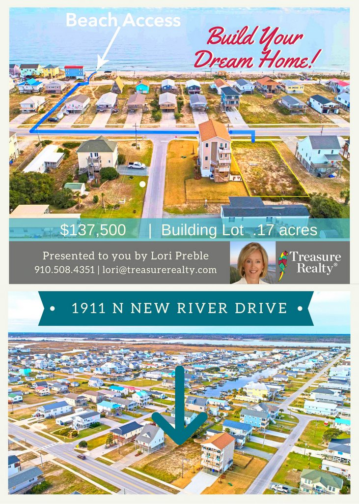 Building lot on #TopsailIsland #forsale! Bring your #customhome design and get started on your #dreamhome. Excellent #ocean views possible and easy walk to the #beach!  Call Lori to get started! 910.508.4351 Check it here:
