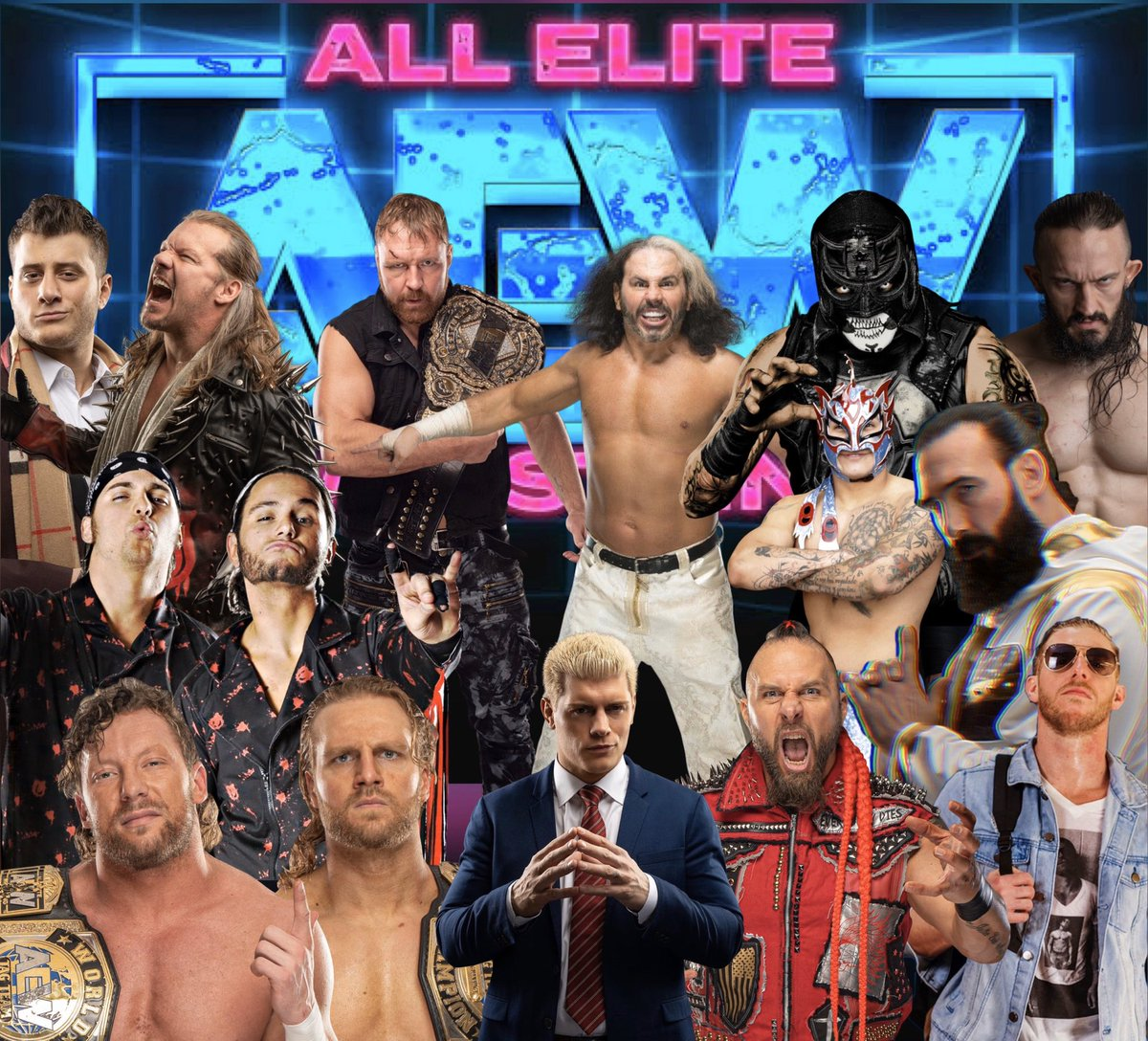 My custom made @AEWrestling wallpaper that I made with some of my favourite stars from @AEWonTNT #AEWDyamite #AEWonTNT #AEW