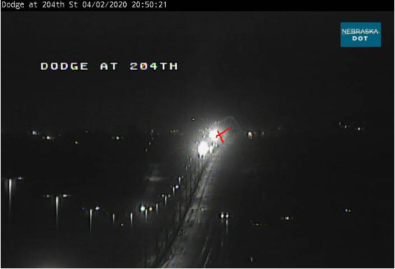 Image posted in Tweet made by Omaha Hwy Conditions on April 3, 2020, 1:57 am UTC