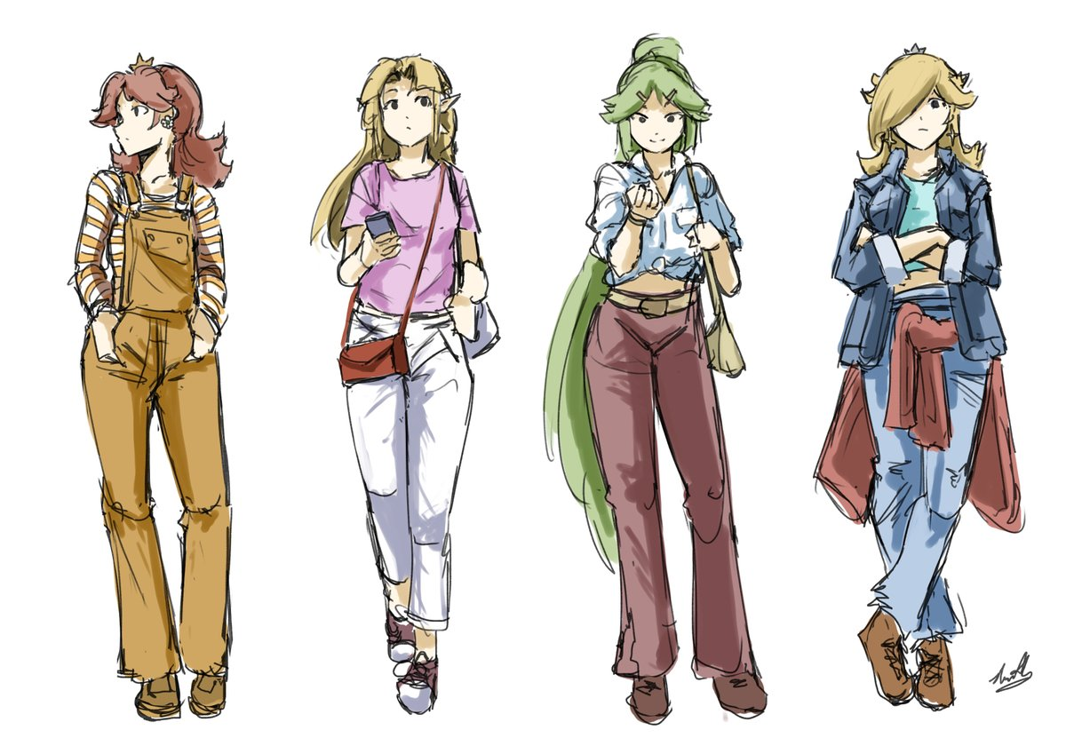 RT @AutoGiraffe: Some old outfit studies https://t.co/A7YJ5W7XJV