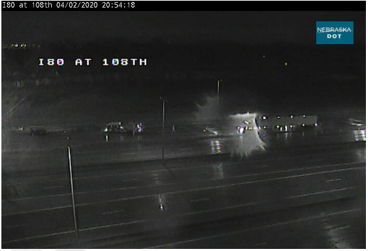 Image posted in Tweet made by Omaha Hwy Conditions on April 3, 2020, 2:01 am UTC
