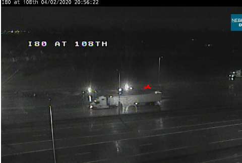 Image posted in Tweet made by Omaha Hwy Conditions on April 3, 2020, 2:03 am UTC
