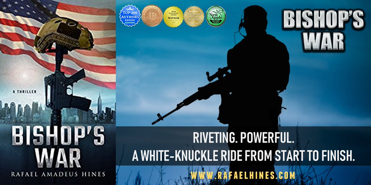 "READ BISHOP'S WAR if you're yearning for a high-adrenaline read. ""Hines shows himself to be masterful at pacing and plot progression... A consistently thrilling opening installment.""  — Kirkus Review   http://getbook.at/bishopswar    @RafaelWrites  #thriller #military #MUSTREADpic.twitter.com/yX3UH0nIaB"