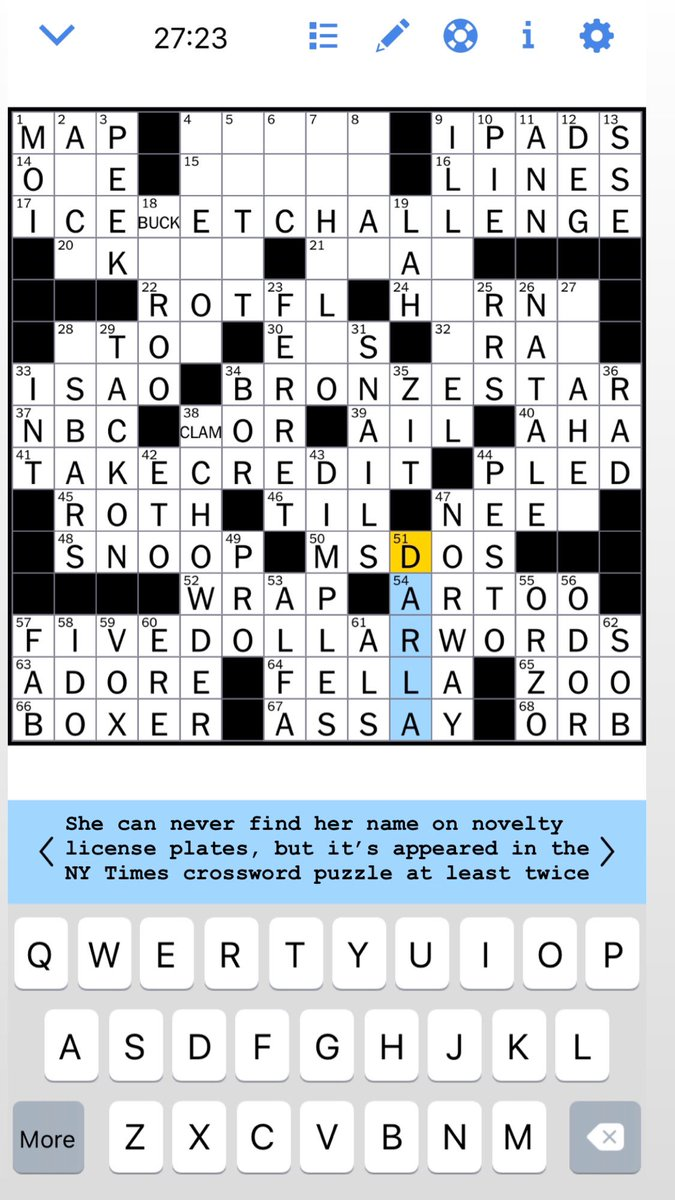 The last time was in 2013 ✏️😎 @nytimes @NYT_Crossword
