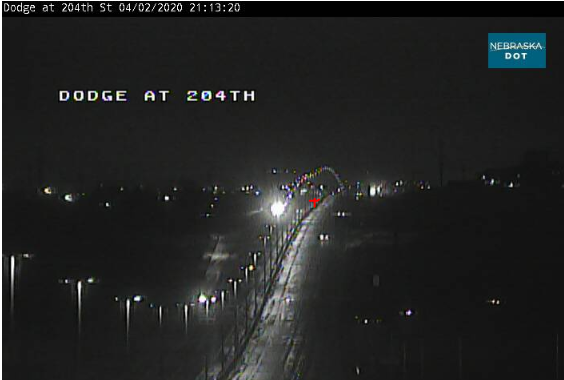 Image posted in Tweet made by Omaha Hwy Conditions on April 3, 2020, 2:19 am UTC