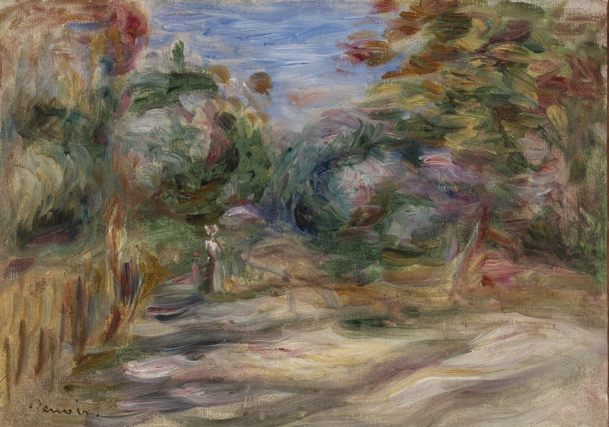 Landscape (Paysage) by Pierre-Auguste Renoir https://collection.barnesfoundation.org/objects/5191/  #pierreaugusterenoir #barnescollectionpic.twitter.com/eSQlXjSYRh