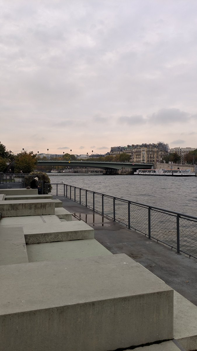 2019-10 Paris trip: Between the Pont de l'Alma and the Pont des Invalides, on the South side of the #Seine river is the Promenade des Berges de la Seine - a park along the #river with lounge chairs, floating gardens and playgrounds.  https://en.wikipedia.org/wiki/Promenade_des_Berges_de_la_Seine …pic.twitter.com/SXamm0y74F