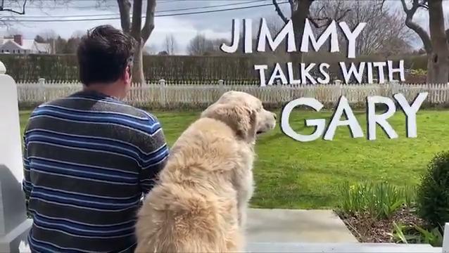 Jimmy interviews his dog Gary 🎙️